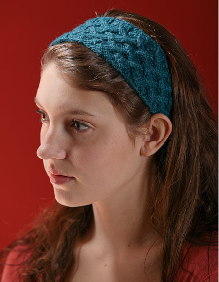Free knitting pattern for Lattice Cable Headband and more headband knitting patterns