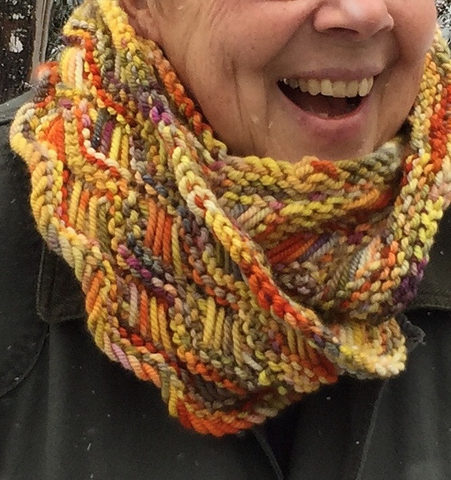 Free Knitting Pattern for Lattice Cowl