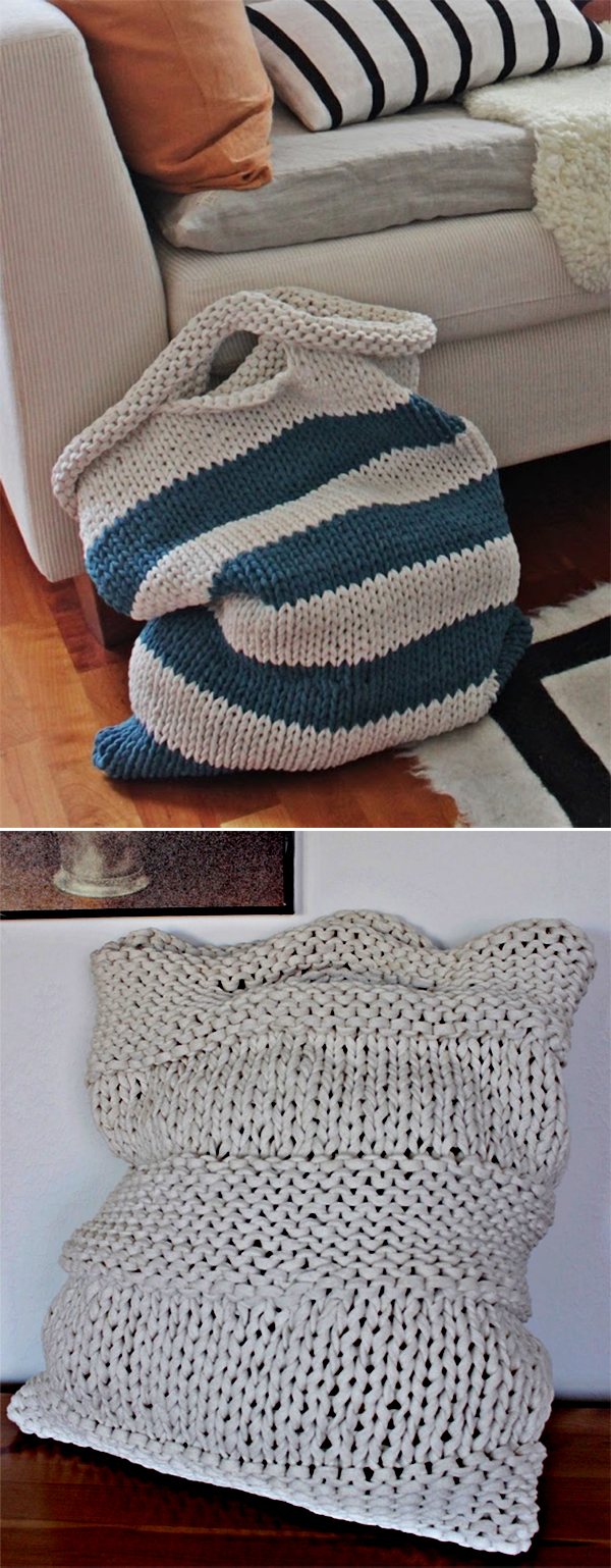 Free Knitting Pattern for Laundry Bags