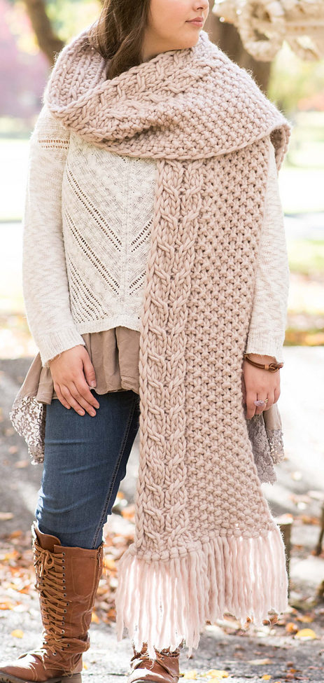 Free Knitting Pattern for Laurel Frost Super Scarf