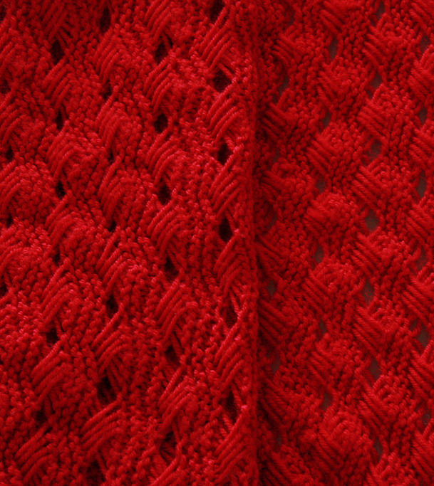 Free Knitting Pattern for Lava Baby Blanket