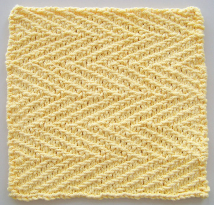 Free Knitting Pattern for Herringbone Dishcloth