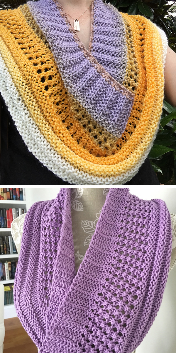 Free Knitting Pattern for Easy Layer Cake Loop Cowl