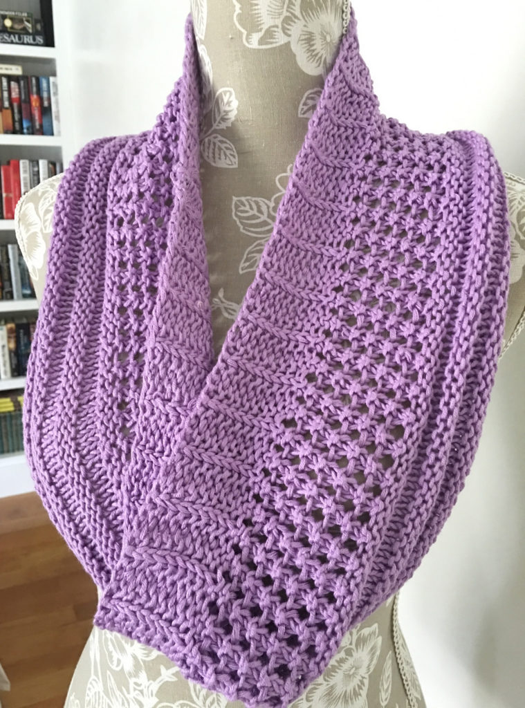 Free Knitting Pattern for Easy Layer Cake Loop