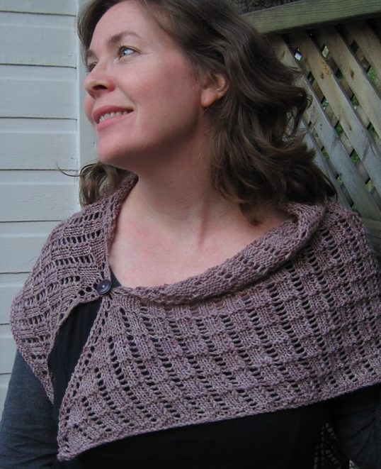 Free knitting pattern for easy quick Lazy Day Lace Shawl