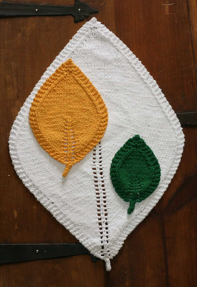 Free Knitting Pattern for Leaf in 3 Sizes