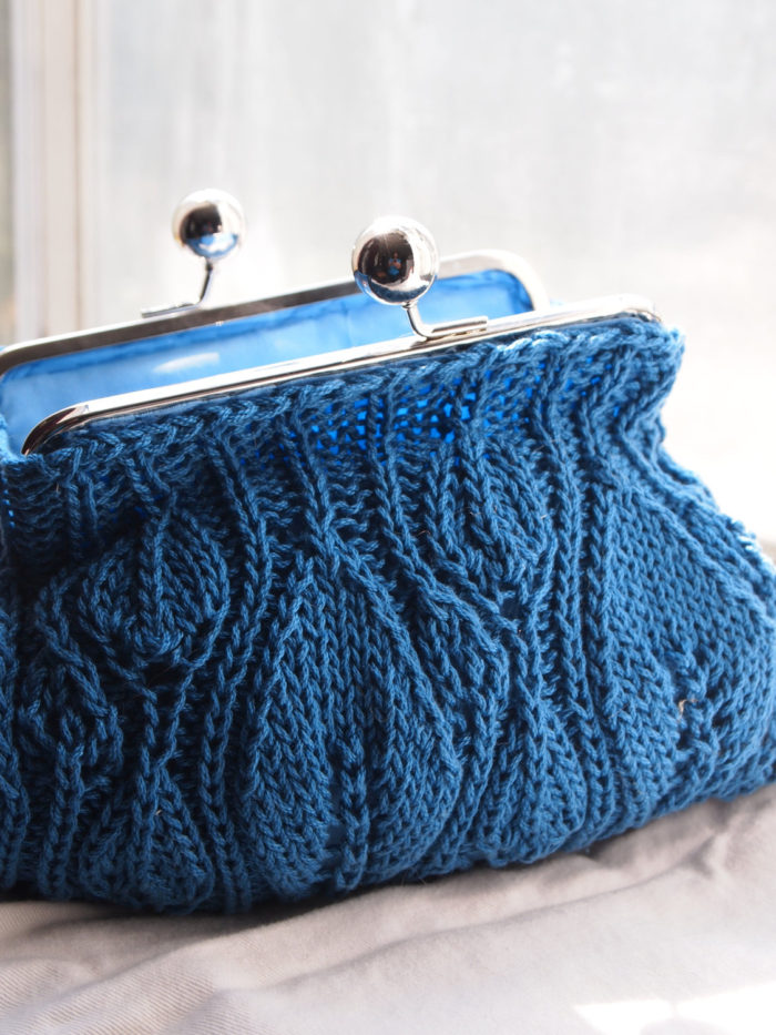 Free Knitting Pattern for Leafy Clutch