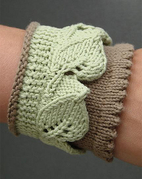 Free Knitting Pattern for Leaf Lace Cuff
