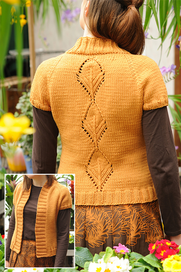 Free knitting pattern for Leaflet Cardigan
