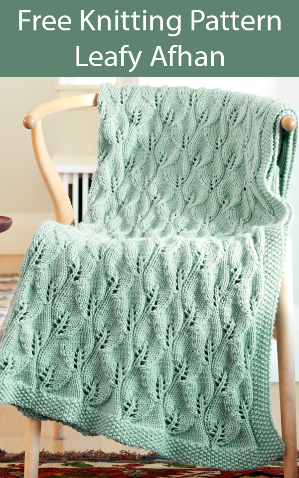 Free Knitting Pattern for Leafy Afghan