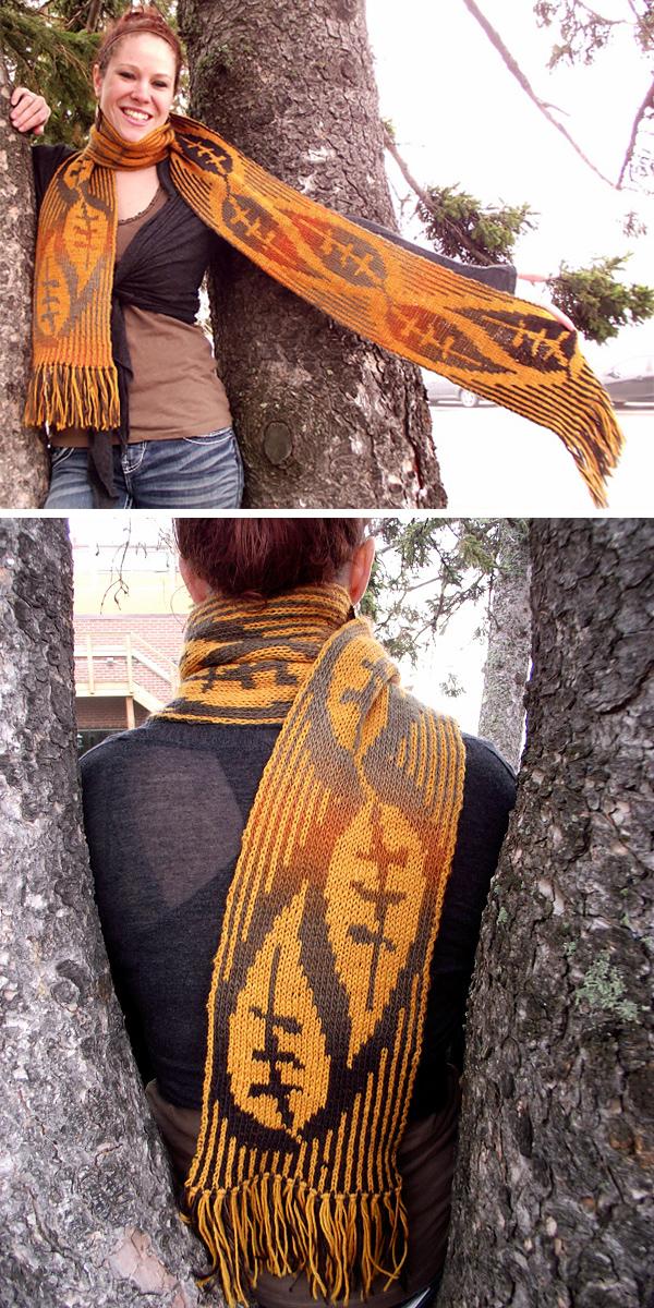 Free Knitting Pattern for Leaves of Grass Scarf