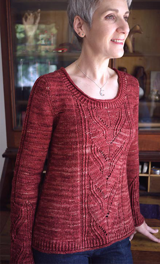 Knitting Pattern for Leaving Pullover or Cardigan