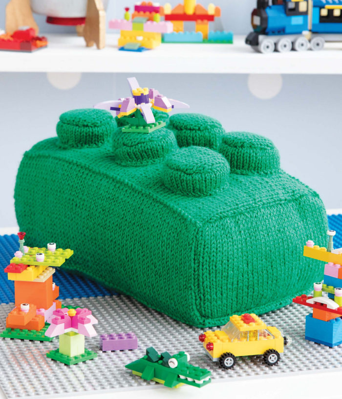 Knitting Pattern for Lego Pillow