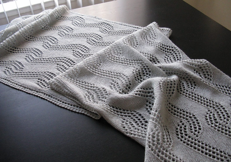 Free Knitting Pattern for Leher Wrap