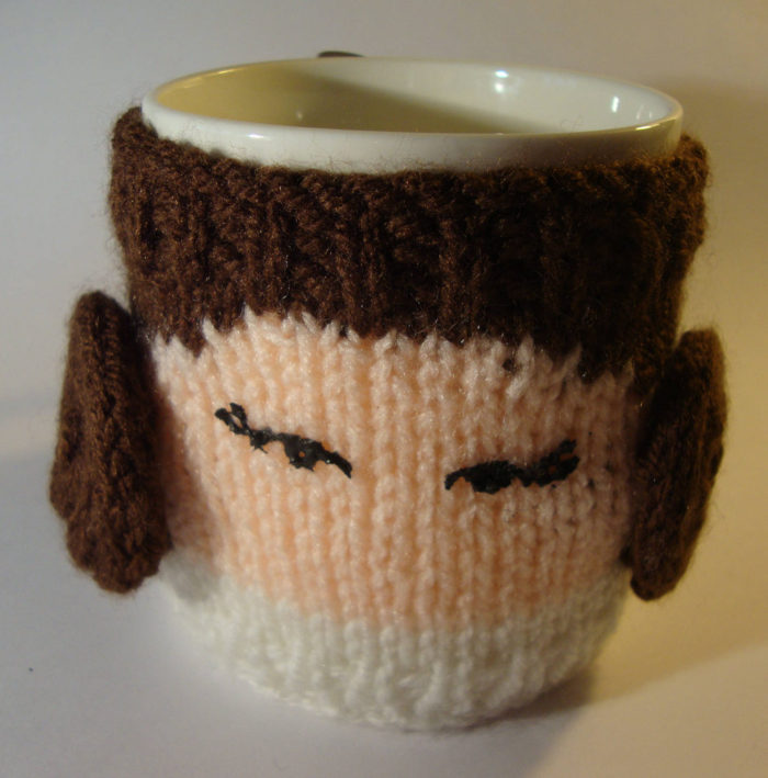 Knitting Pattern for Star Wars Mug Cozy