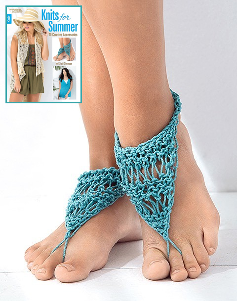Knitting Pattern for Barefoot Sandals