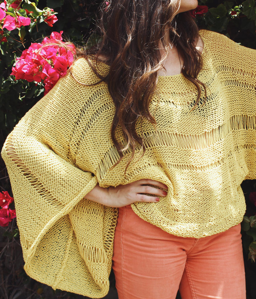 Free Knitting Pattern for Lemon Drop Sweater
