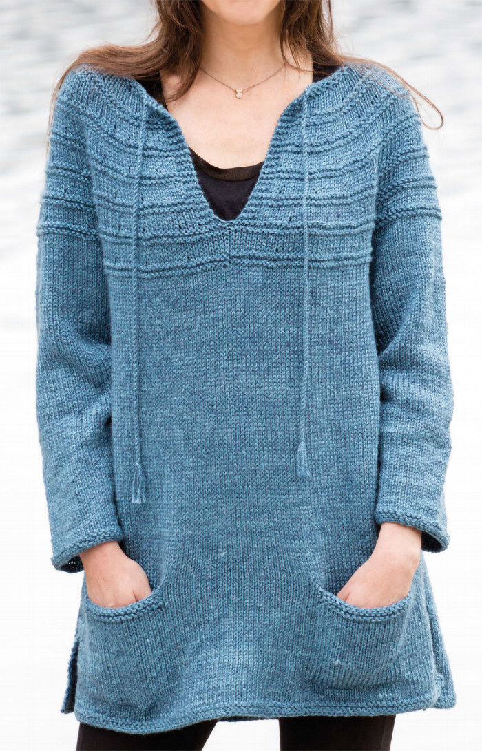 Free Knitting Pattern for Lena's Top-Down Sweater