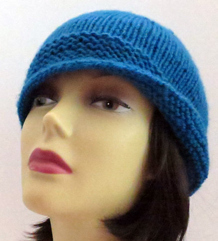 Knitting pattern for Leona Cloche Hat