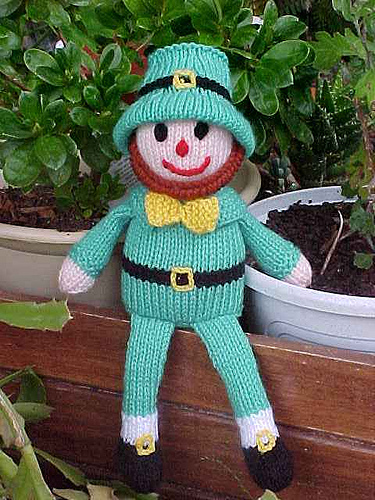 Rufus the Leprechaun Doll Free Knitting Pattern | Free St. Patrick's Day Knitting Patterns at