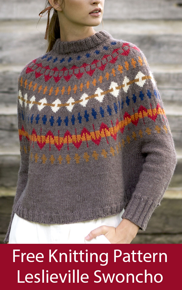 Free Knitting Pattern for Leslieville Swoncho