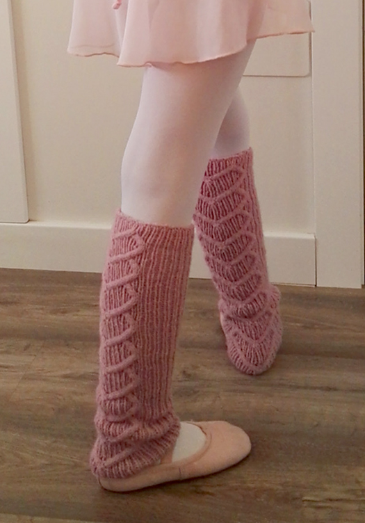 Free Knitting Pattern for Let's dance! Legwarmers