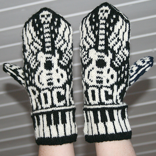 Knitting Pattern for Lets Rock Mittens