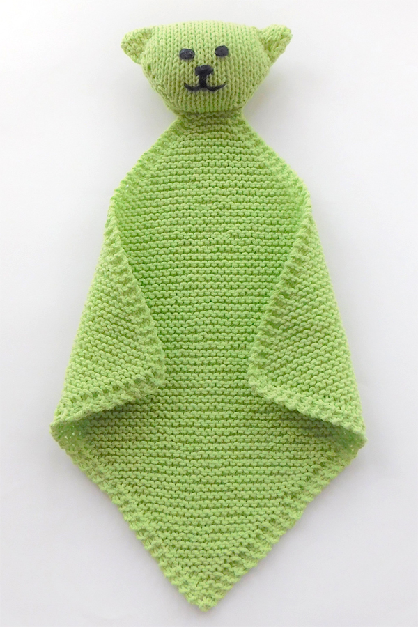 Free Knitting Pattern for Levi the Super Easy Lovie