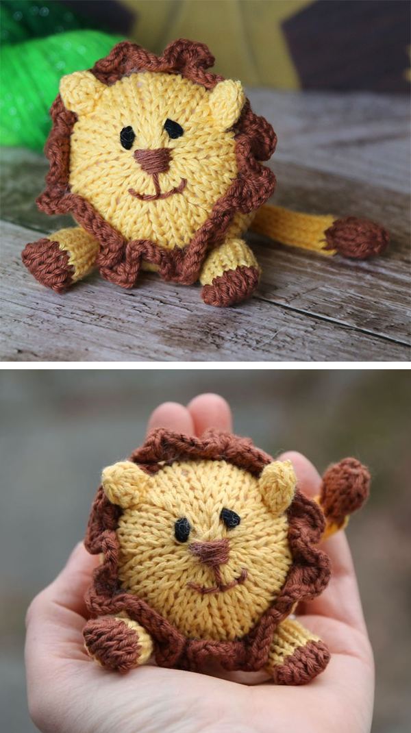Knitting Pattern for Lion Amigurumi