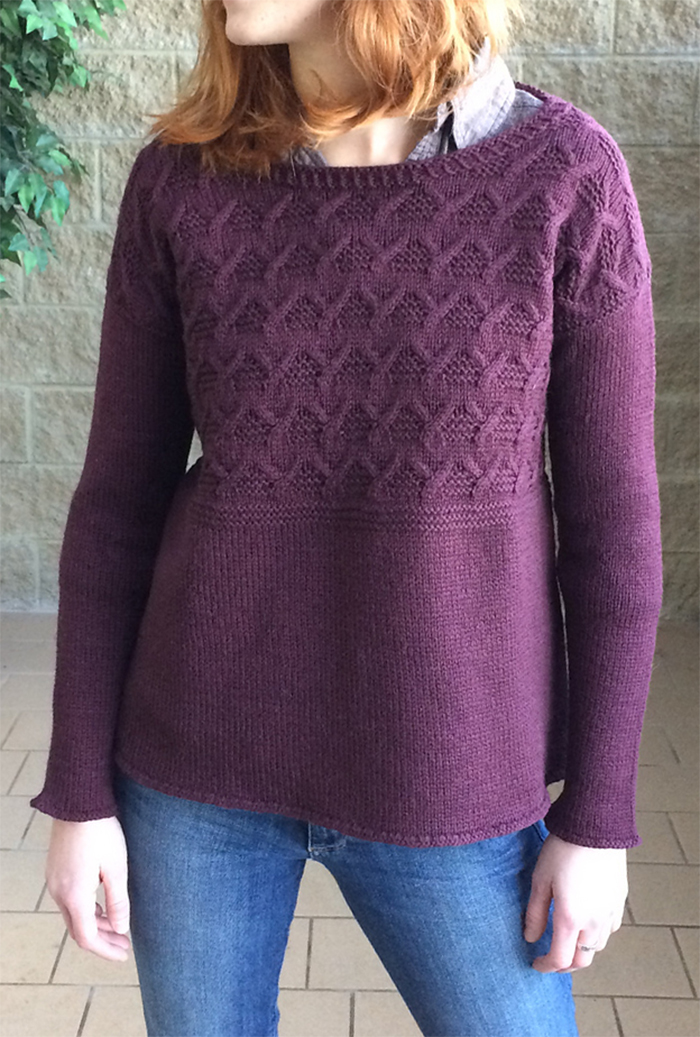 Free Knitting Pattern for Cable Yoke Pullover