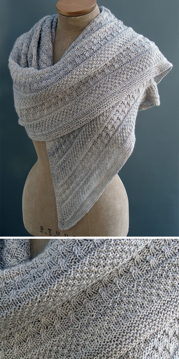 Knitting Pattern for Lichen and Moss Shawl