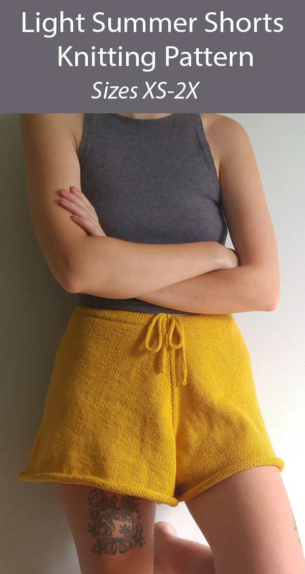 Knitting Pattern for Light Summer Shorts