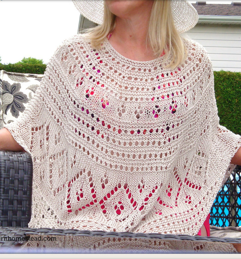 Free Knitting Pattern for LiGitana Poncho