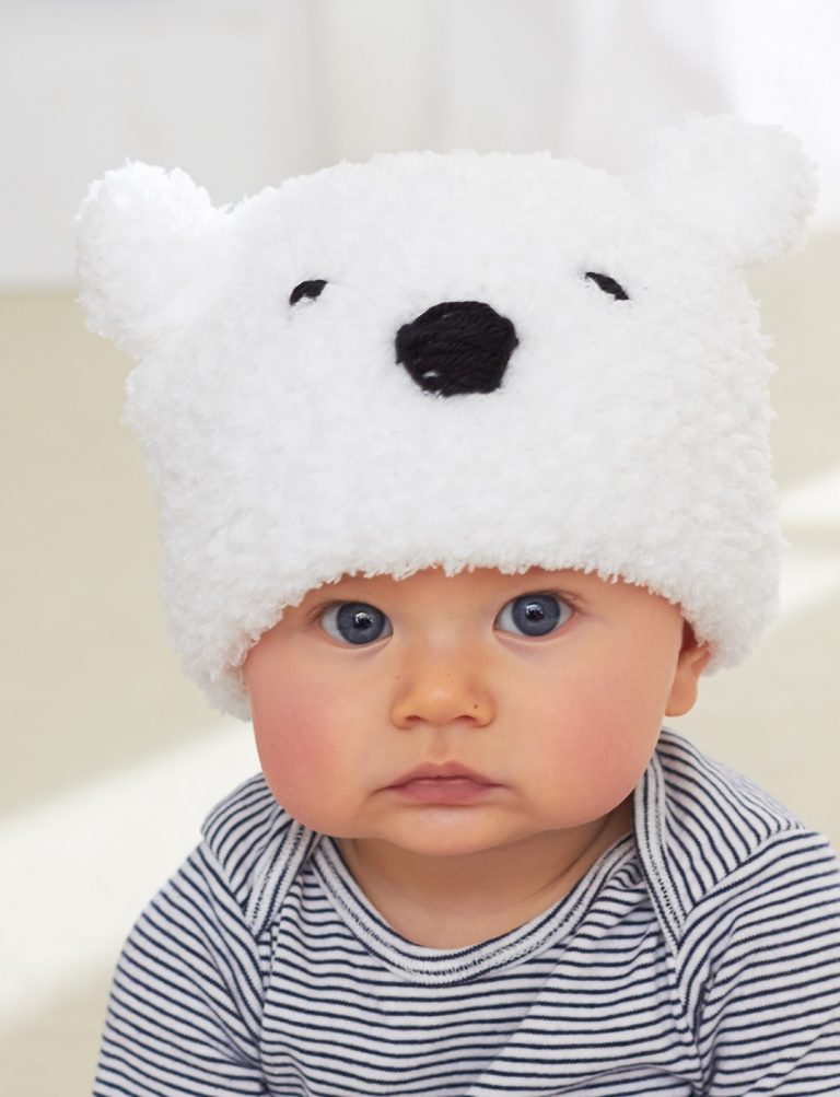 Free knitting pattern for Lil Polar Bear Hat