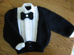Lil Tux for Baby Cardigan Free Knitting Pattern | Free Baby and Toddler Sweater Knitting Patterns including cardigans, pullovers, jackets and more http://intheloopknitting.com/free-baby-and-child-sweater-knitting-patterns/