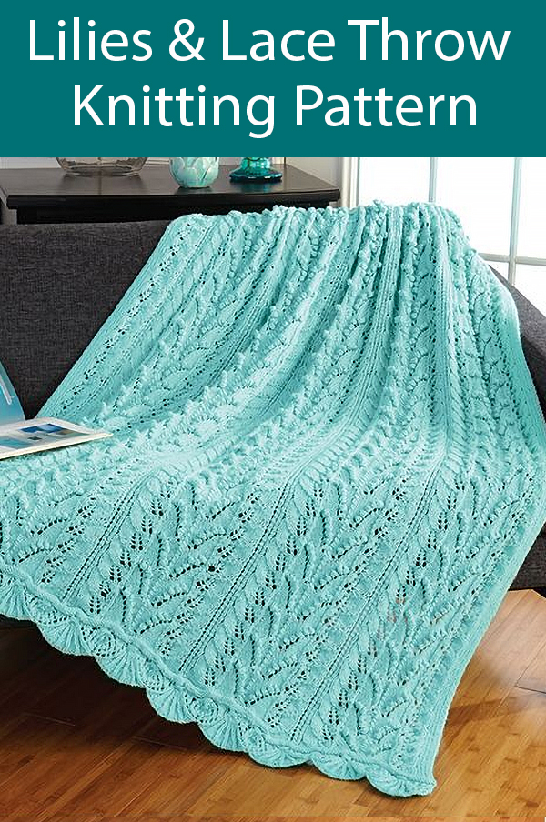 Knitting Pattern for Lilies & Lace Throw Grand Prize Afghan Contest Winner