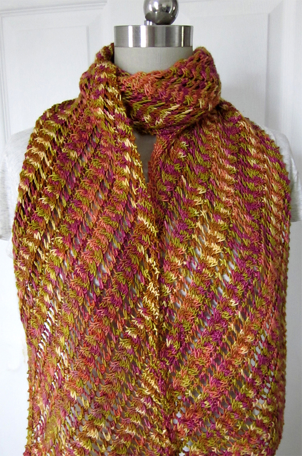 Knitting Pattern for Lilka Scarf