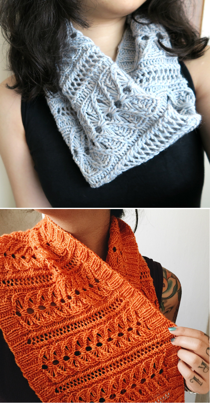 Free Knitting Pattern for Lily Cowl