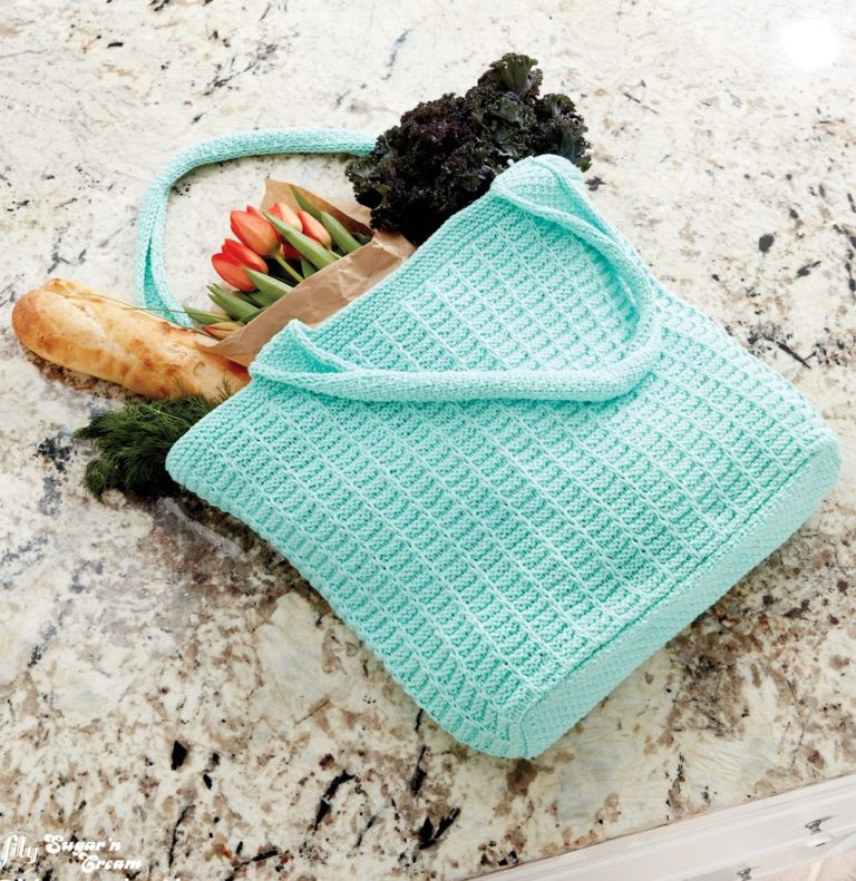 Free Knitting Pattern for Easy Market Tote