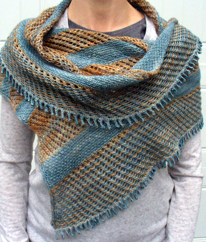 Knitting Pattern for Linen and Lace Wrap