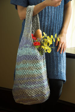 Free knitting pattern for Linen Concerto tote
