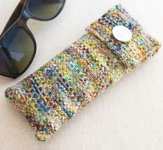 Free Knitting Pattern and Class for Linen Stitch Glasses Case