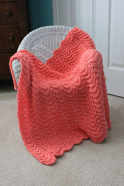 Free knitting pattern baby blanket from Project Linus that provides security blankets to children. So easy but it looks beautiful and is soft and squishy. CO 144. Row 1: K1, YO, K3, K2tog, K2tog, K3, YO, K1, repeat. Row 2: Purl. Row 3: Knit.