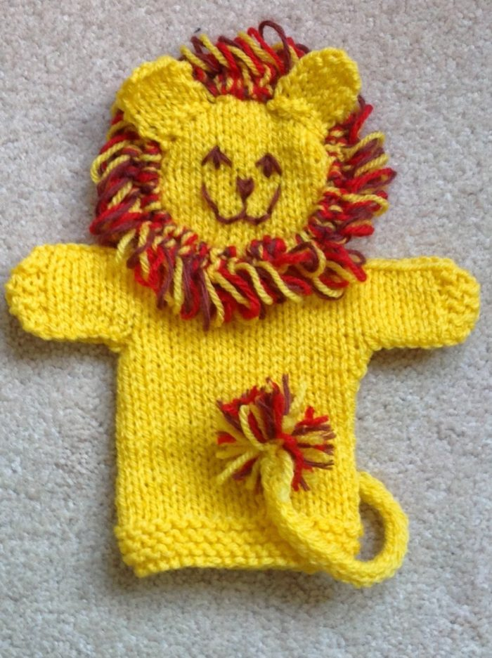 Free Knitting Pattern for Lion Hand Puppet