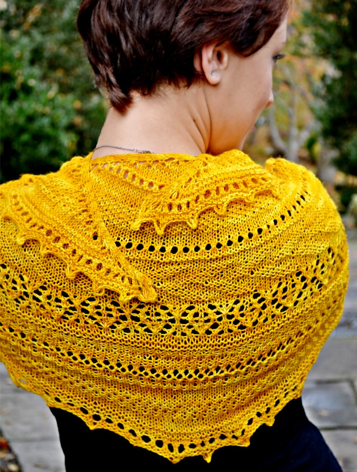 Free Knitting Pattern for Lionberry Shawl