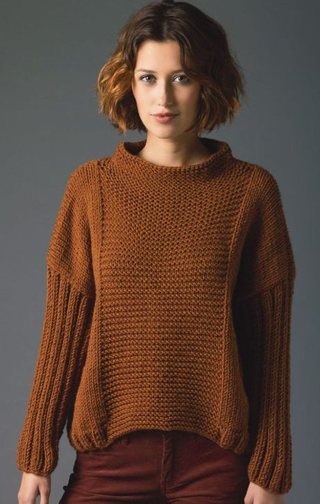 e3f3e78f7 Lion s Pride Pullover Sweater Free Knitting Pattern and more long sleeve pullover  knitting patterns