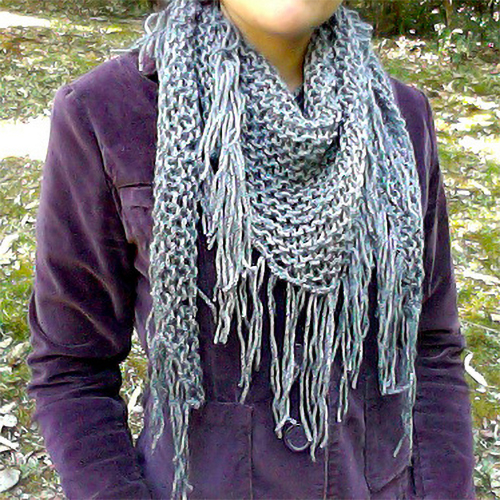 Free knitting pattern for the Literally 2 Hour Shawl and more weekend knitting patterns