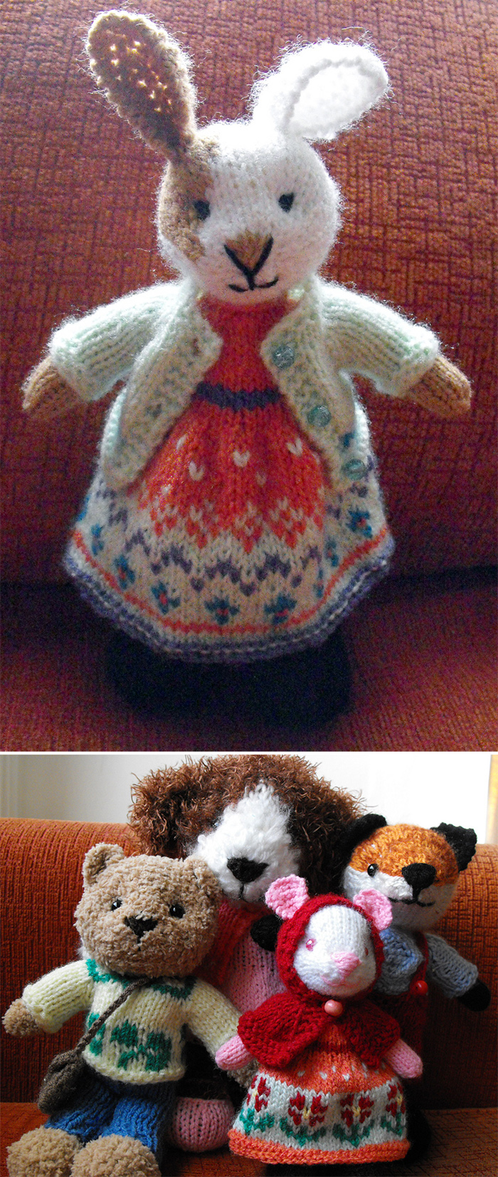 Free Knitting Patterns for Little Animal Toys