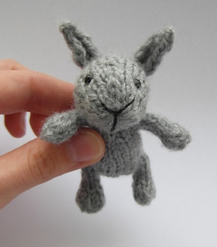 Free Knitting Pattern for Little Baby Bunny