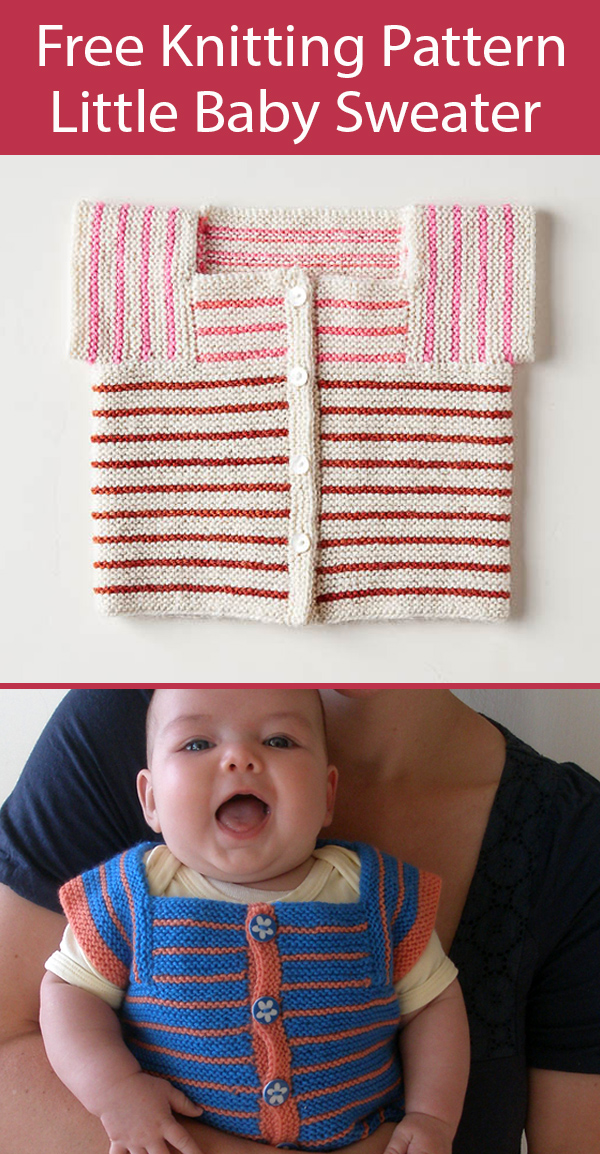 Free Little Baby Sweater Knitting Pattern